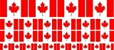 Mini Fahnen / Flaggen Set glatt - 4x 51x31mm+ 12x 33x20mm + 10x 20x12mm- selbstklebender Aufkleber - Kanada - Sticker fürs Büro, Schule und zu Hause - Set of 26