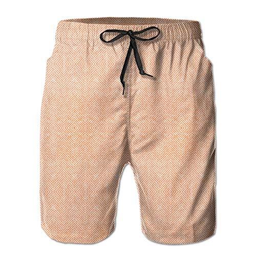 ond Tweed Orange Giftwrap (4917) Shorts Fast Dry Beach Board Shorts Men's Swim Trunks (L) ()