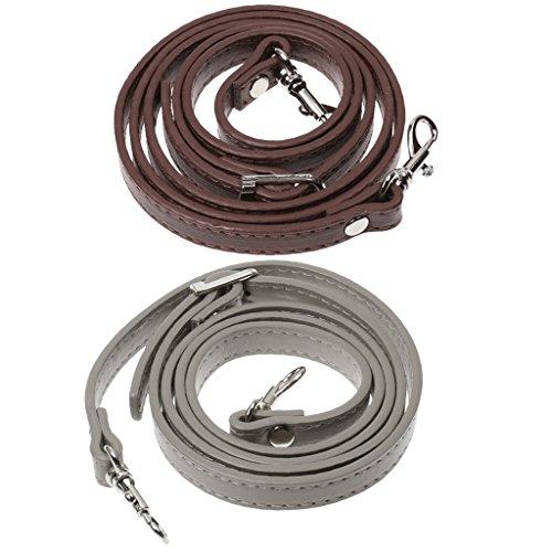 sharplace 2Stück DIY Tasche Gurt Reparatur Ersatz Schulter Handtasche verstellbar PU-Griff -