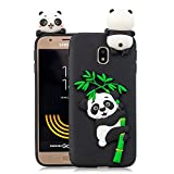 HUDDU Compatible for Weihnachten Motiv Panda Handyhülle Samsung Galaxy J3 2017 J330 Silikon Hülle Karikatur Muster Handyschale TPU Tasche Case Cover Ultra Dünn Schutzhülle - Schwarz
