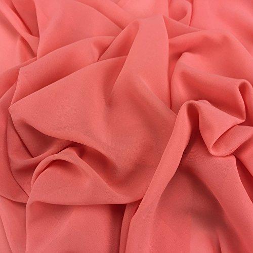 Flamingo Pink Georgette Chiffon Synergy Uni-Stoff, Bridal, Kleid Stoff 152,4cm 150cm Breite–Meterware -