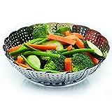 Cottura a vapore Vegetable Steamer pieghevole, Cestello / inserto per verdure in acciaio inox per pentole, padelle, pentole di coccio e altro, Multi-functional Steel Veggie Strainer, Regalo della mamma