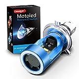 H4 Moto LED HS1 Fari anteriori per Moto . L'ultimo Modello Con avviso Di Sicurezza LED Luce Dell'Occhio Di Angelo 30W 6000LM Camelight Xenon Bianco 6000K (Blu) 1