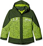 Vaude bambini Suricate 3in1Jacket III AOP Giacca doppia, Bambini, Kids Suricate 3in1 Jacket III AOP, Verde - green pepper, 122/128
