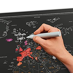 Luckies of London Chalk Edition Mapa Scratch, 59.4 x 0.3 x 82.6 cm