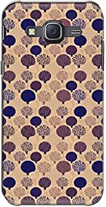 The Racoon Grip printed designer hard back mobile phone case cover for Samsung Galaxy J5. (Mauve Tree)