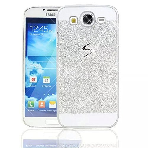 Sunroyal Samsung Galaxy S3 i9300 / S3 Neo i9301 Handy Hülle Schutz Bling Hart Case Harte Glitzer Diamant Luxus Gel Crystal Kristall Zurück Hard Back Cover Rückseite, Silver Silber