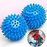 SSXCO 2pcs / Reusable Laundry Balls Waschmaschine Wäschetrockner Ball Dekontamination Trockner...
