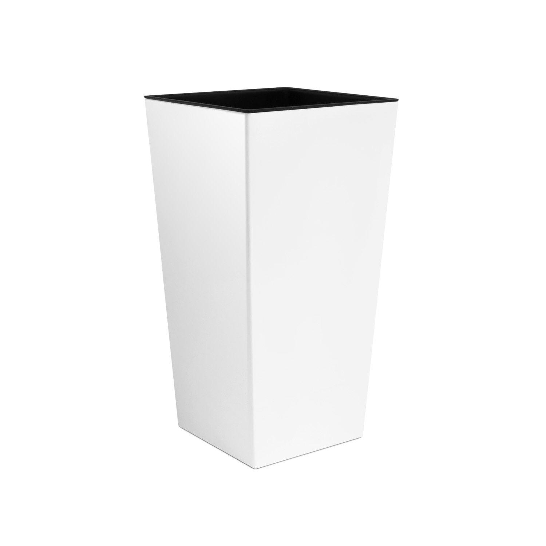 Unbekannt Macetero Urbi 50cm Alto plástico Fower Pot con Interior Liner, 7Colores, weiß, 26.5×26.5×50 cm