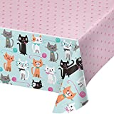 Purrfect Party Plastic Tablecover All Over Print