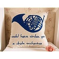45x 45cm) How I Met Your Mother Cubierta de trompa–Cojín de Lino Azul Funda de almohada fw892hjt23t425265