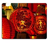 Mousepads Focus on red Chinese lantern with the Chinese character Blessings written on it IMAGE 34815968 by MSD Mat Customized Desktop Laptop Gaming Mouse Pad