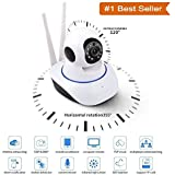 Rewy Wireless 360° HD IP Wifi CCTV Indoor Security Camera With Live Video Streaming on Mobile/Laptop (White)