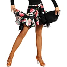 SCGGINTTANZ G2011 Profesional Falda de Danza Latino Latin Moderno Baile para Mujeres (M, (