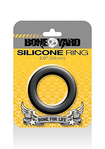 Boneyard Silicone Ring, 50 mm, Black