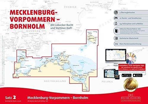 Sportbootkarten Satz 2: Mecklenburg-Vorpommern - Bornholm (Ausgabe 2018): Mit Lübecker Bucht und Stettiner Haff