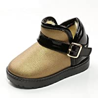 Dragon868 New Toddler Kids Baby Mixed Colors Girls Boys Shoes Winter Martin Snow Boots Shoes Gift (5.5 UK, Gold)