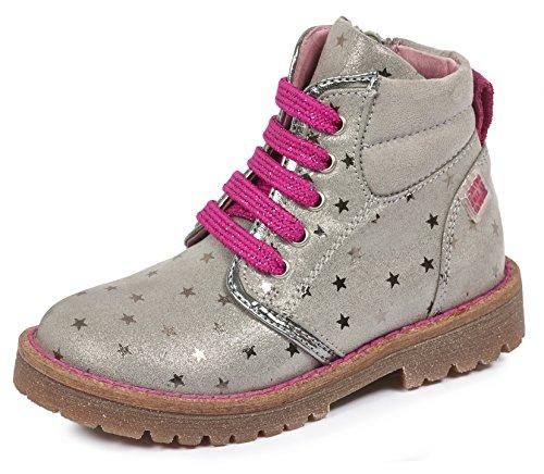 Agatha-Ruiz-de-la-Prada-Mdchen-161946-Combat-Boots-Grau-Vapore-Y-Estampado-Estrellas-30-EU
