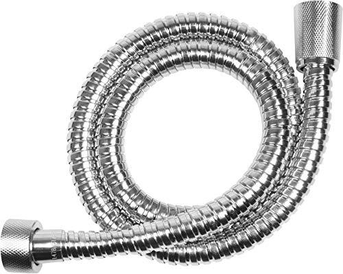 Cornat Anschlussschlauch - 80 cm Länge - Metall verchromt - Extrem Belastbar - 1/2 Zoll Anschluss geeignet für handelsübliche Armaturen / Duschschlauch / Anschlussschlauch für Steigrohre / TECBW3312