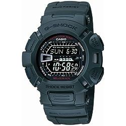 CASIO G-Shock G-9000-3VER - Reloj de caballero de cuarzo, correa de resina color verde (con alarma, cronómetro, luz)