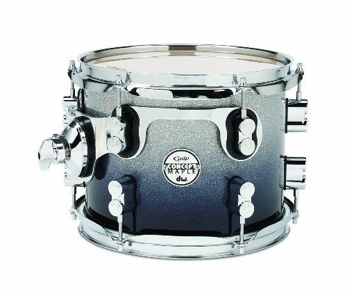 Pacific Drums pdcm0810stsb 20,3x 25,4cm Tom mit Chrom Hardware-Silber zu schwarz verblassen