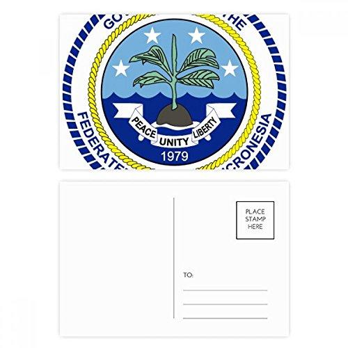 DIYthinker Mikronesien National Emblem Postkartenset Geburtstag dankt Karte Mailing Side 20pcs 5.7 Zoll x 3.8 Zoll Mehrfarbig (Karte Von Mikronesien)