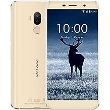 """Ulefone s8 pro - Smartphone barato libre 4G Visión más grande que nunca Teléfono Móvil Libre,5.3""""HD 1280 x 720 pixels, Android 7.0, 16GB ROM+2GB RAM, MediaTek MT6737 Quad Core 1.3GHz, Cámara de 13MP/5MP, Batería 3000mAh,Dual SIM Color dorado"""