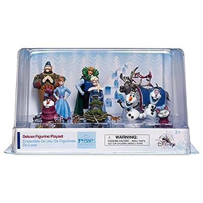 Lote 10Personajes PVC Frozen Avventure Olaf Disney también Decoración Tartas de Disney Store