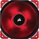 Corsair ML120 PRO Ventilador de PC (120 mm, Levitación Magnética, iluminación LED Rojo) Paquete Soltero