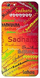 Sadhana (Goddess Durga) Name & Sign Printed All over customize & Personalized!! Protective back cover for your Smart Phone : Samsung I9300 Galaxy S III ( S-3 )