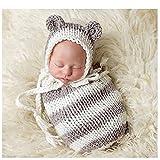 Neugeborene Baby Fotografie Requisiten Boy Girl Crochet Kostüm Outfits Hat Schlafsack