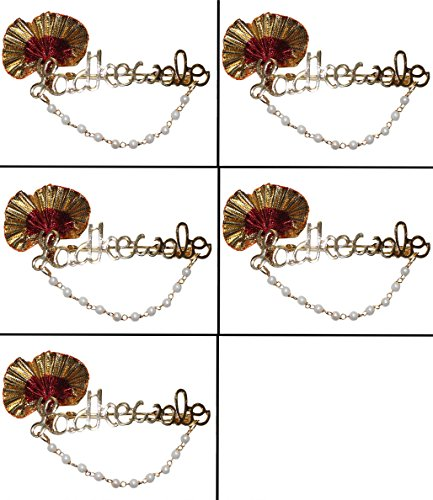 odishabazaar Metal Ladkewale Brooch for Women (1, 5)