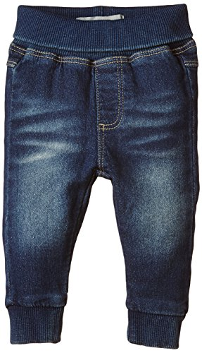 NAME IT Baby - Jungen Jeanshose NITRUR NB SWEAT DNM WR PANT NOOS, Gr. 74, Blau (Medium Blue Denim)