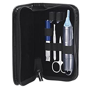 Remington Groom Essentials Set NanoSeries NE3455, Trimmer Set für Nasen-, Ohren- & Augenbrauenhärchen, grau/schwarz