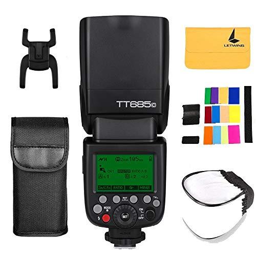 Godox TT685C TTL Flash per fotocamera Speedlite 2.4G HSS 1 / 8000s GN60 per Canon EOS 5D Mark III 5D Mark II 6D 7D 60D 50D 40D 30D 650D 600D 550D
