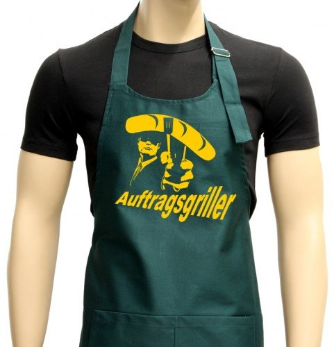 Commande sgriller Tablier barbecue vers. Couleurs de Griller – Barbecue Grill Tablier Sport Vert/jaune