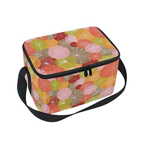 Ahomy Sac à déjeuner Isotherme coloré avec Motif Cercles pour l'extérieur, l'école, Le Bureau, Les boîtes à déjeuner Organisateur pour Enfants et Adultes
