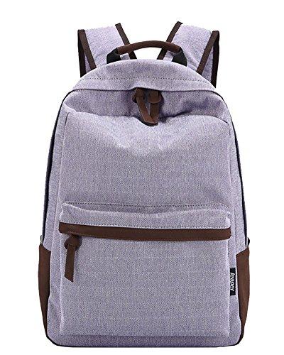 Schulrucksack Schultasche Sports Rucksack Freizeitrucksack Daypacks Backpack für Mädchen Jungen Kinder Damen Herren Jugendliche Helles Lila Helles Lila