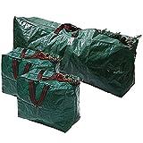 Ram® 3pcs Extra Large Ensemble de décorations pour Arbre de Noël de Noël Long Zip Sacs de Rangement avec poignées