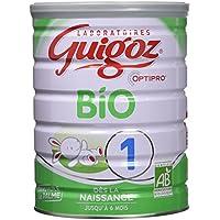 Guigoz Bio 1 Optipro Dès la Naissance Lait Infantile 1er Âge en Poudre de 0 à 6 Mois 800 g - Lot de 3