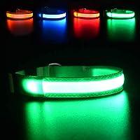 MASBRILL Hundehalsband Leuchtend USB Aufladbar Wasserdichtes LED Leuchthalsband für Kleine Mittlere Große Hunde…