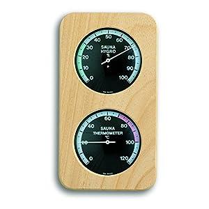 TFA Dostmann Analoges Sauna-Thermo-Hygrometer, Temperatur, Luftfeuchtigkeit, hitzebeständig