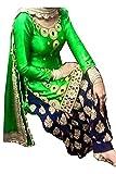 Jil Creation Women's Crepe Silk Semi-Stitched (JC063_Green)