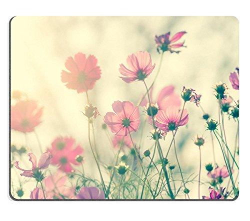 Preisvergleich Produktbild luxlady Mousepads Pink Cosmos Blumen Vintage Farbe Bild 36358570Individuelle Art Desktop Laptop Gaming Mauspad