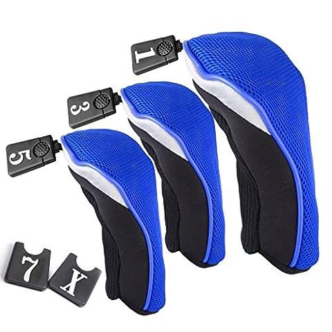 Baido 3pcs Woods DRIVER Head deckt die Schutzhaube nicht. 135(blau)