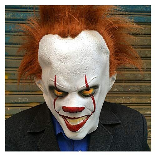 Clown Dem Twisty Kostüm Halloween - ldy Halloween Maske Vollkopf Horror Clown Latex Maske Rollenspiel Kostüm Maske geeignet für Maskerade, Täuschung, Karneval Party