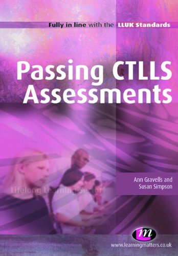 Passing ctlls assessments further education and skills book 1488 passing ctlls assessments further education and skills book 1488 by gravells ann fandeluxe Gallery