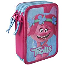 Trolls Poppy - Plumier de triple comapartimento 43 piezas, estuche