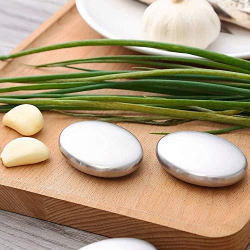 Preisvergleich Produktbild Rouku Praktische magische Seife aus Edelstahl desodoriert Knoblauchzwiebelgeruch von den Händen Silber Silber
