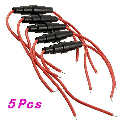 Preisvergleich Produktbild 5 PC Screw Typ Draht 5 x 20mm Inline Sicherungshalter 22 AWG